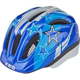 KED Meggy Helmet Kids blue stars